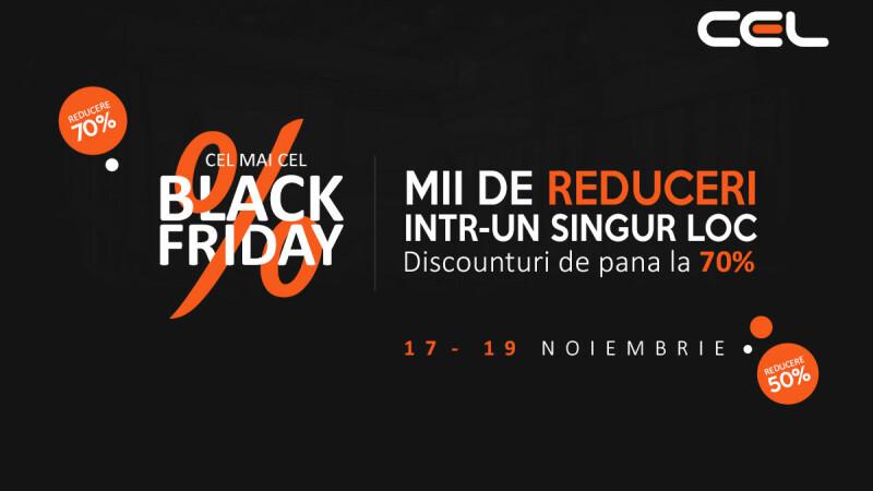 CEL.ro Black Friday 2017: reduceri de 90% și plata în 24 de rate