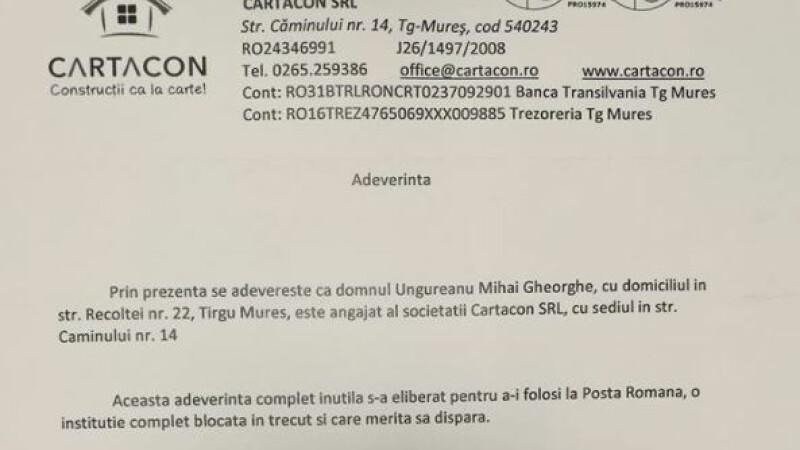 Reacția Poștei Române după ce mesajul unui bărbat căruia i s-a cerut adeverinţă pentru livrarea unui colet s-a viralizat