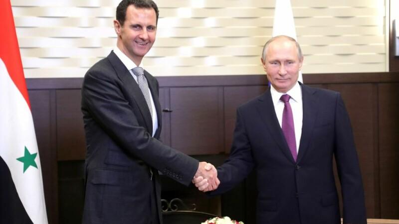 Vladimir Putin si Bashar al-Assad