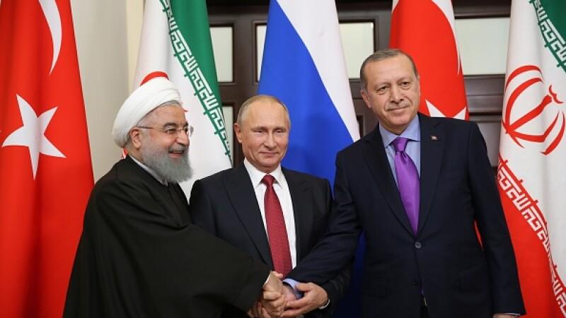 Întâlnire trilaterală Rusia-Turcia-Iran la Sochi, privind readucerea păcii în Siria