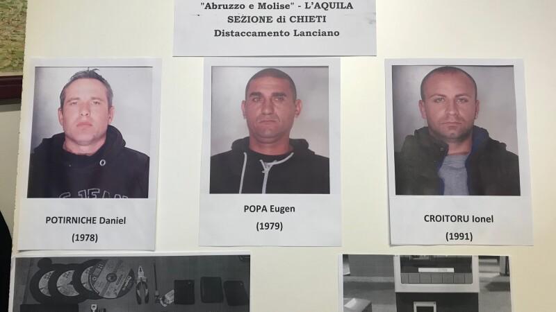 Trei români care spărgeau bancomate cu flexul, prinşi în Italia