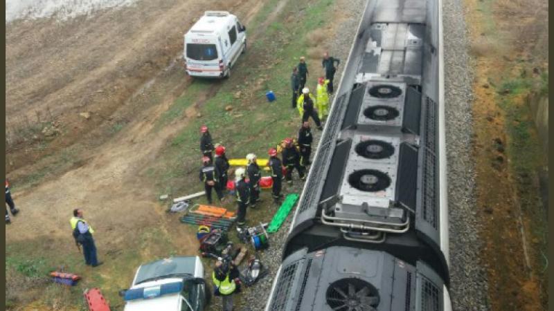 Tren deraiat spania
