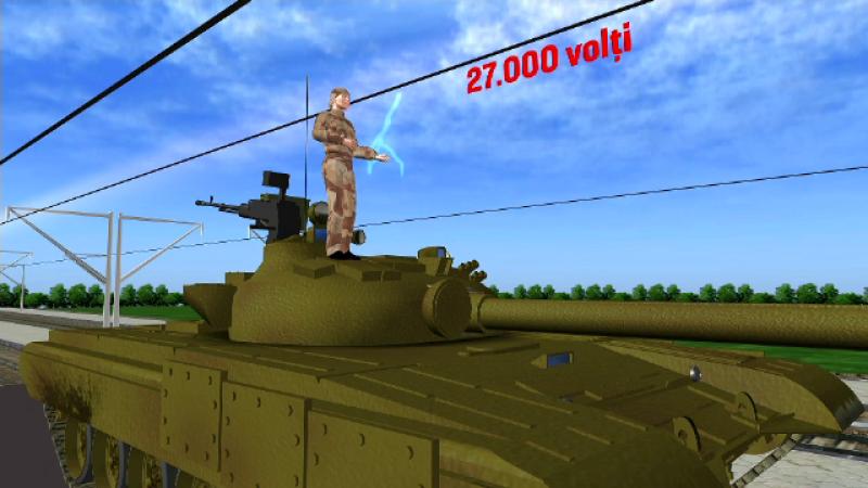 militar, electrocutat, parada, 1 decembrie, tanc