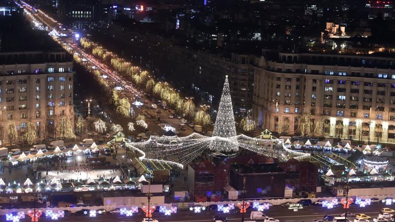 Târg de Crăciun în București.