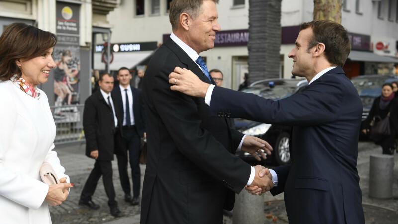 Klaus Iohannis, Emmanuel Macron