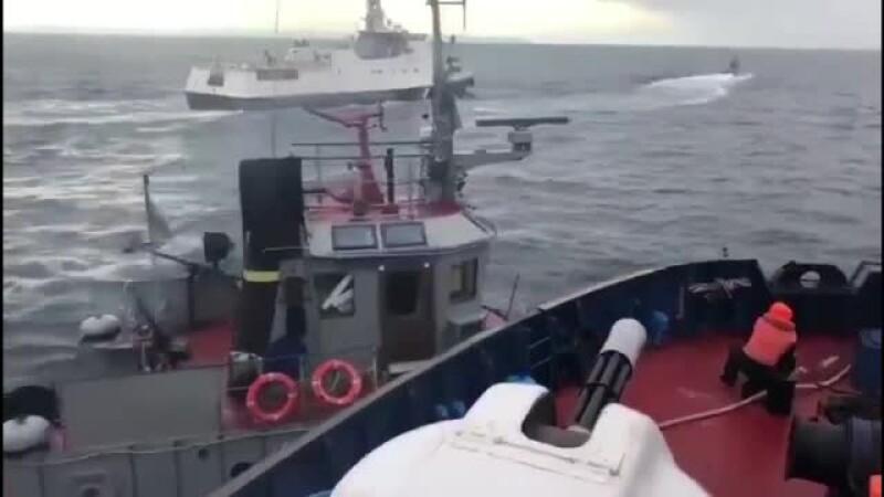 nava capturata in marea Azov