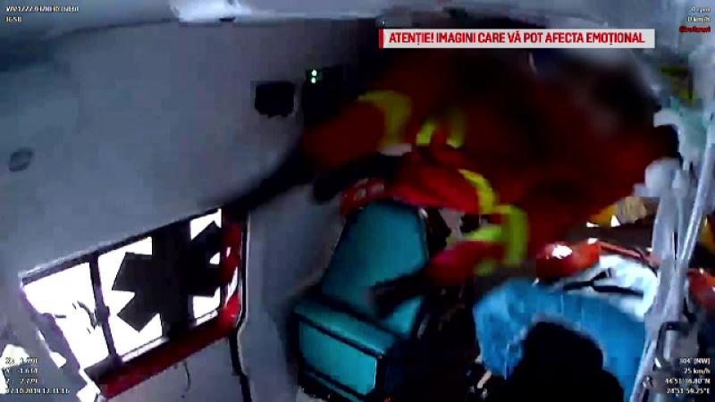 Mărturii despre urmările accidentului în care o ambulanță se răstoarnă în Pitești
