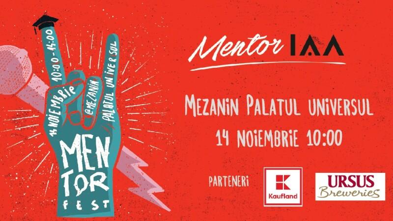 Hai la prima ediție MentorFEST! IAA România te invită la Mezanin pe 14 noiembrie