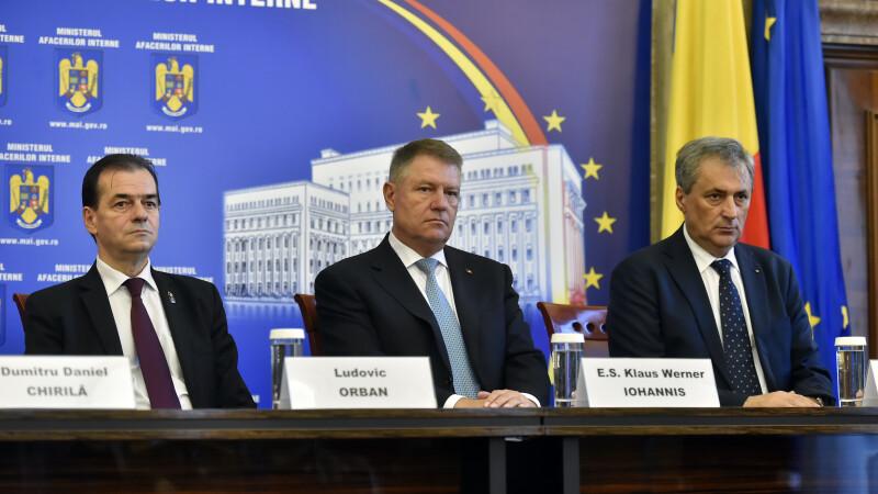 Ludovic Orban, Klaus Iohannis, Marcel Vela