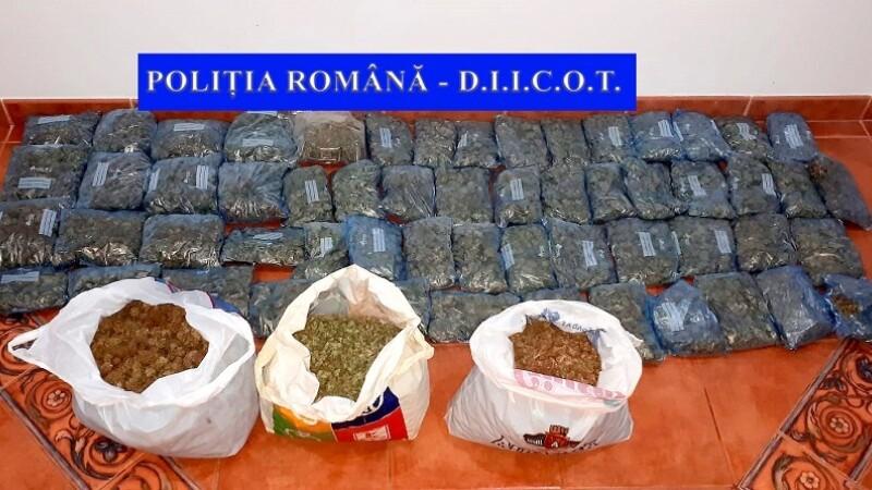 Captură de droguri de peste 500.000 de euro în casa unui tânăr din Neamț