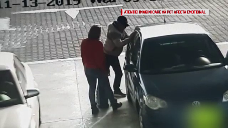 Momentul în care un șofer cade secerat într-o benzinărie. Cum l-a salvat un polițist