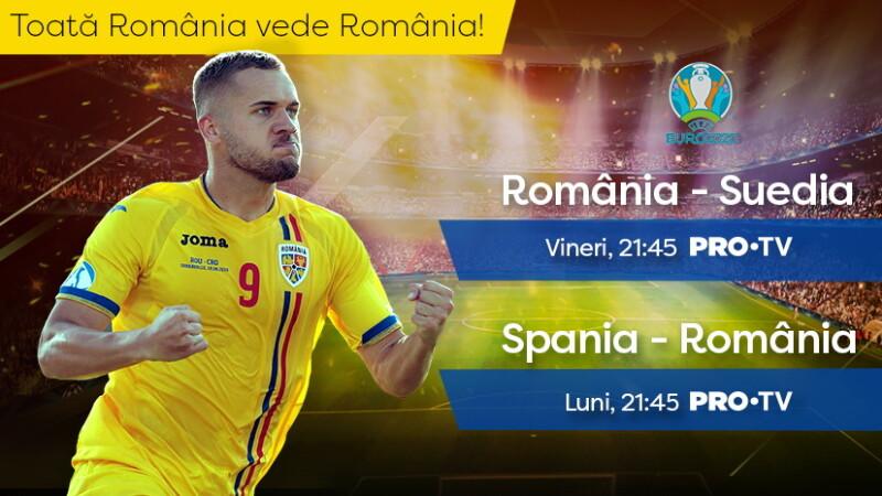 ROMÂNIA - SUEDIA, în preliminariile Euro 2020