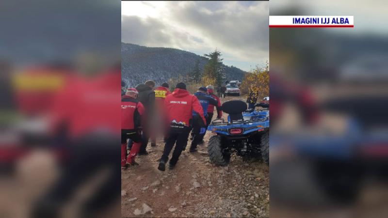 Operațiune de salvare în Apuseni, după ce o tânără s-a răsturnat cu ATV-ul