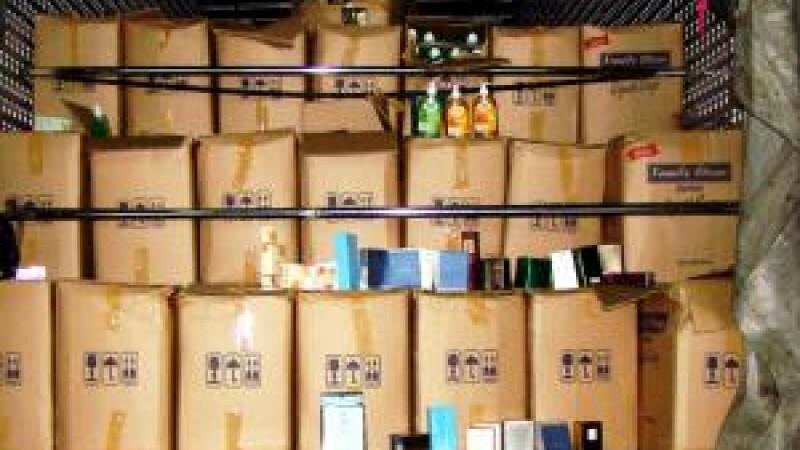 Captura impresionanta de produse de contrabanda