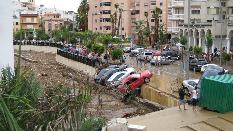 Inundatiile din Spania, fatale pentru doua femei
