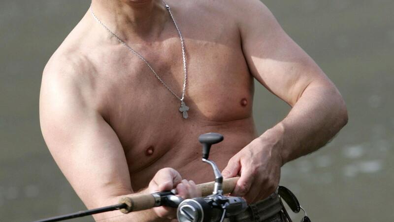 Vladimir Putin la pescuit