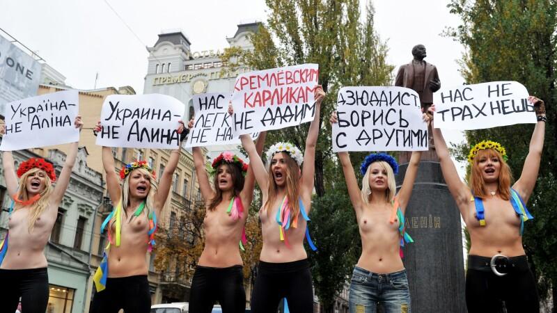 Protest in pielea goala