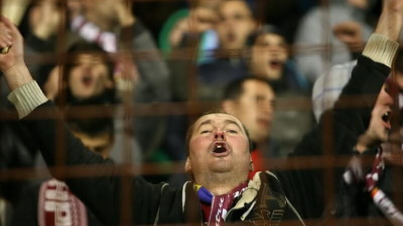 Suporter rapidist la meciul din Cupa Romaniei: Rapid - Astra