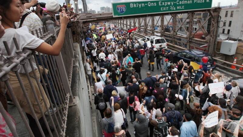 Proteste la Brooklyn
