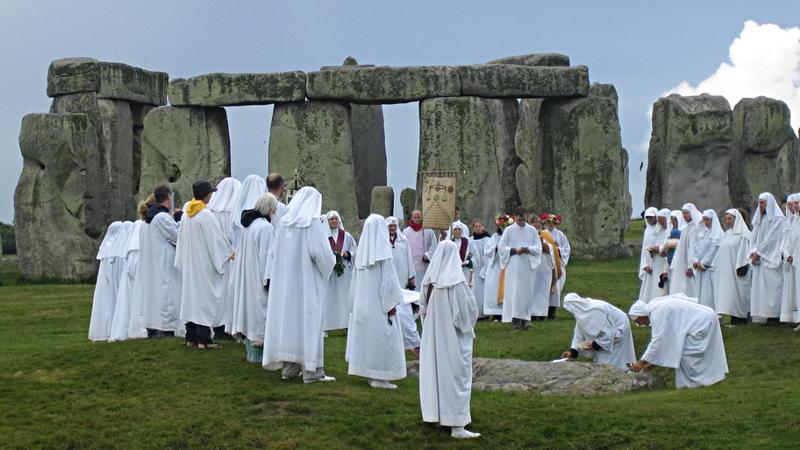 ritual druizi la Stonehenge