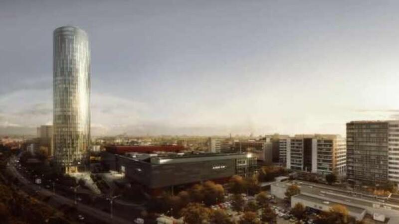 Dupa aproape un an si jumatate de cand a demarat constructia, Sky Tower a ajuns la final. VIDEO