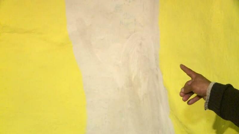Adevarata minune din Stefanesti. Chipul unui sfant a aparut pe un perete, langa vila lui Adi Minune