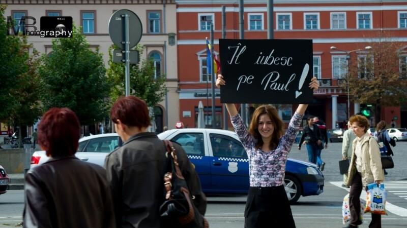 pancarta Te iubesc, Paul!
