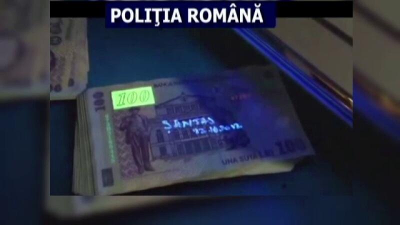 santaj, bani marcati, bani, foto Politia Romana