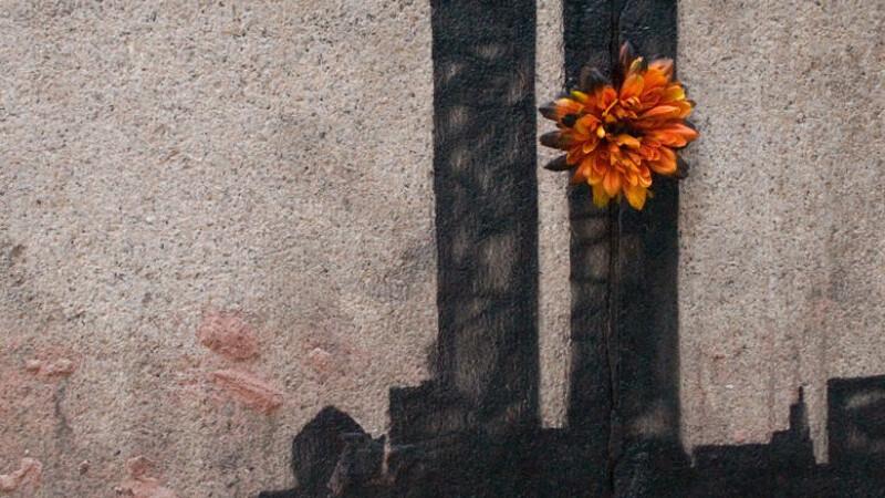 Lumea lui Banksy: Si-a vandut operele cu 60 de USD in Central Park, acum deseneaza crizanteme pe WTC