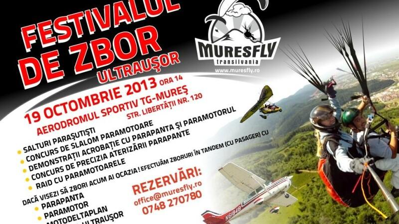 Toata lumea poate zbura. Festivalul de zbor ultrausor la Targu Mures