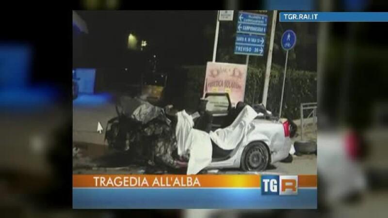 accident masina romani Italia