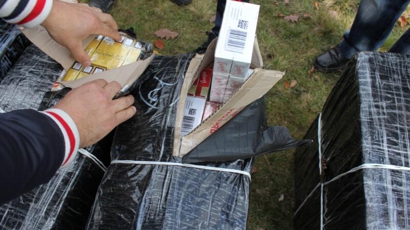 5.000 de pachete de tigari depistate de politistii romani la frontiera