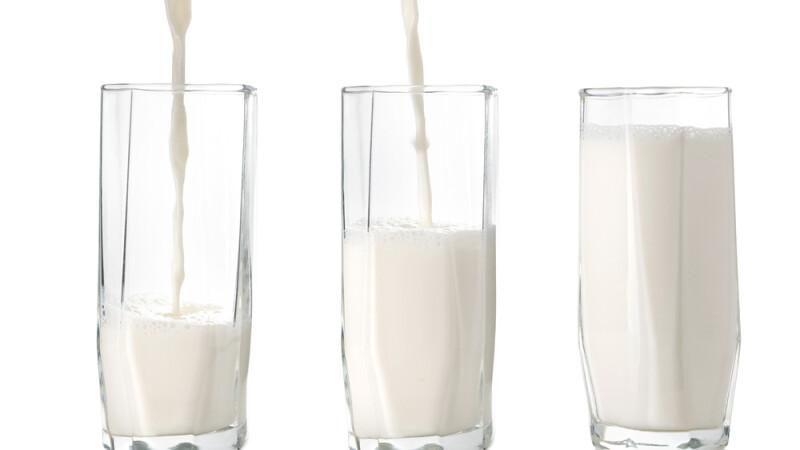 lapte, pahare