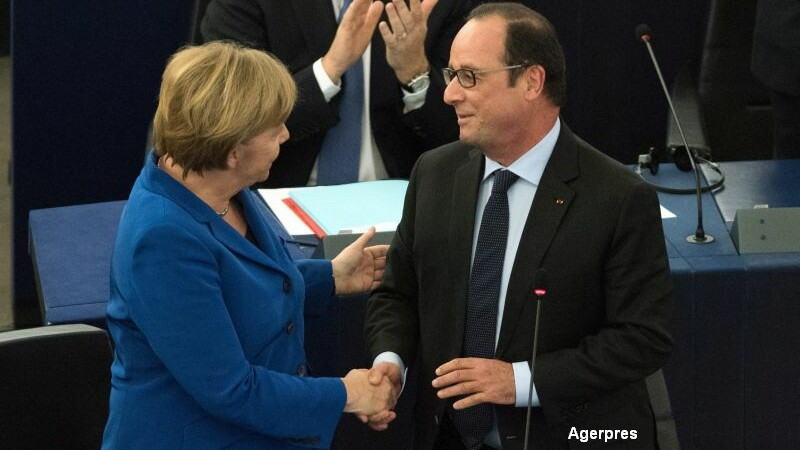 Angela Merkel si Francois Hollande