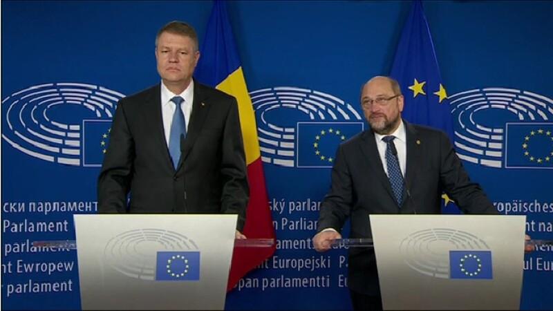 Klaus Iohannis, Martin Schulz - STIRI