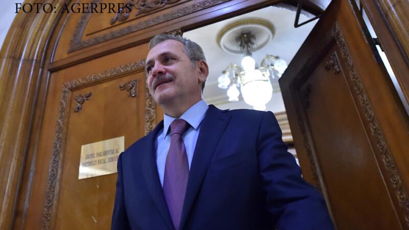Liviu Dragnea, presedinte al PSD, la Palatul parlamentului