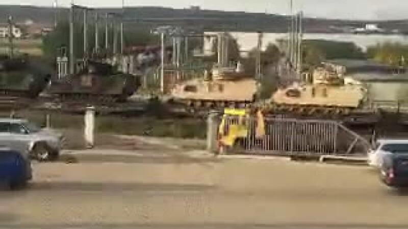 tren cu tancuri in Suceava