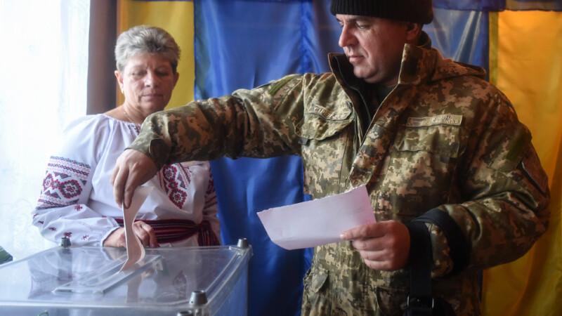 alegeri Ucraina, militar votand