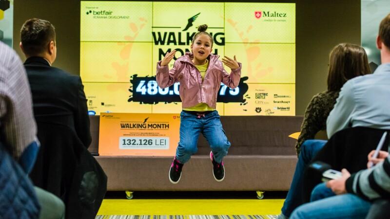 Mobilizare fara precedent la Walking Month: peste 130.000 de lei stransi pentru terapia a 17 copii care nu pot umbla