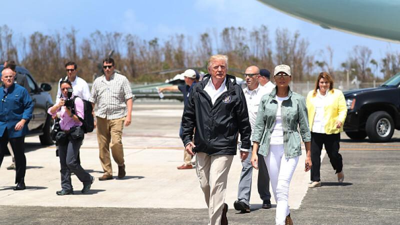 Vizită Trump in Puerto Rico