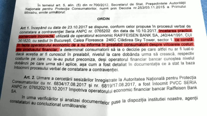 """15 bănci amendate pentru """"publicitate înșelătoare"""". Raiffeisen, obligată să modifice contracte vechi de 10 ani"""