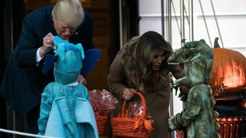 Donald Trump si Melania de Halloween