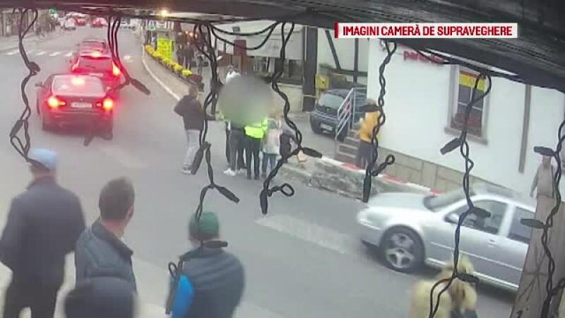 Un bărbat a refuzat să se legitimeze și a agresat o polițistă în Bran. Incidentul a fost filmat