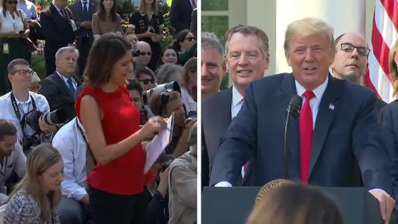 """Trump ar fi insultat o jurnalistă la Casa Albă: """"Nu gândești. Niciodată nu faci asta"""""""