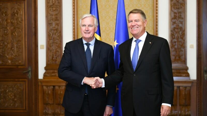 Klaus Iohannis, întrevedere cu negociatorul-şef al UE pentru Brexit. Temele abordate