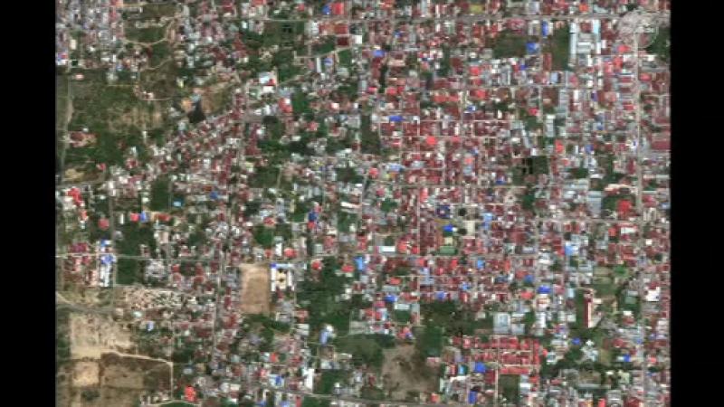 Imagini din satelit înainte și după tsunami. Un sat a fost ras de pe suprafața pământului