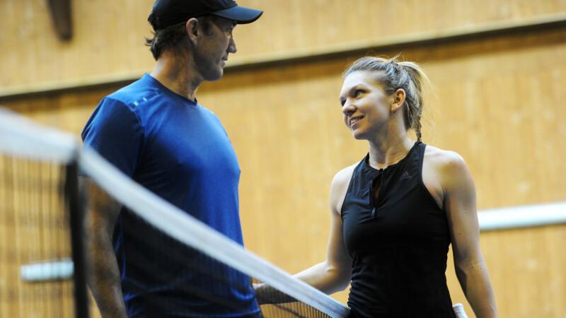 Simona Halep si Darren Cahill