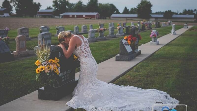 Fotografiile făcute de o mireasă în ziua în care trebuia să se căsătorească, însă mirele a murit în accident