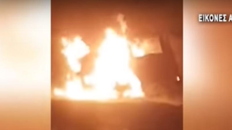 Cel puțin 11 migranți arși de vii într-un accident, în Grecia. VIDEO