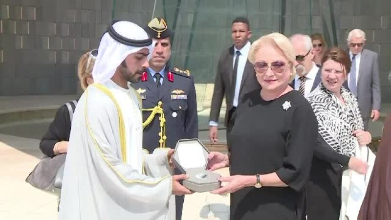 """Dăncilă, vizită în Abu Dhabi: """"În România, comunităţile religioase convieţuiesc în pace"""""""